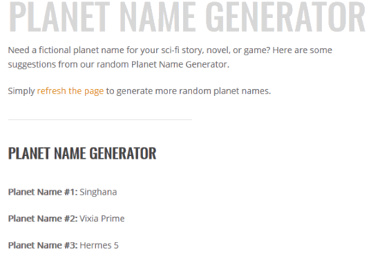 7 Best Online Planet Name Generator Websites Free