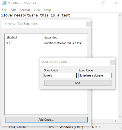 Universal Text Expander