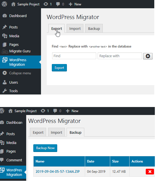 WordPress Migration in action