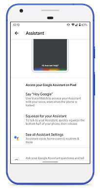 Access Google Assistant Toggles in system settings