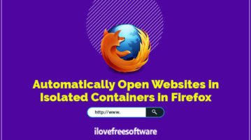 automatically open websites in isolated containers in firefox