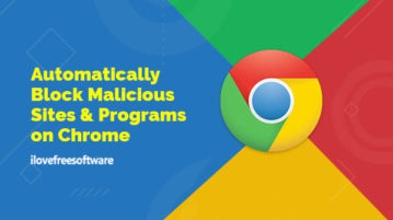 block malicious sites and programs on chrome
