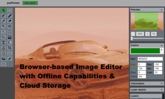 Blockchain-based Image Editor with Free Cloud Storage