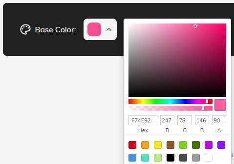 choose the base color to create color palette