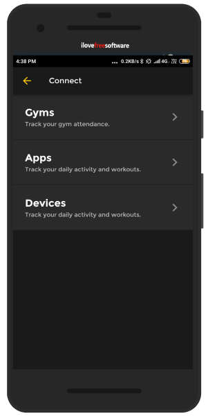 connect app with wearables to track workout