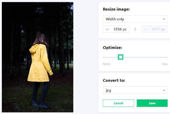 convert, optimize, resize image online