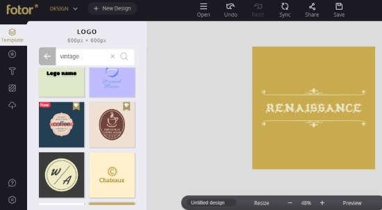 create vintage logo online