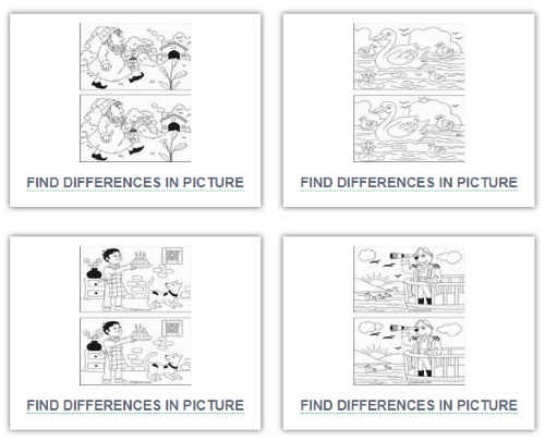 It is an image of Find the Difference Printable inside 5th grader