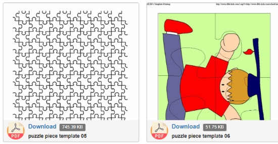 download printable jigsaw puzzle sheets