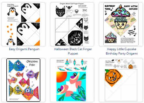download printable origami paper