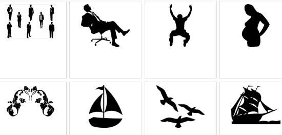 download printable silhouette images