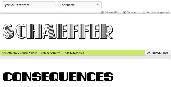 generate retro fonts online