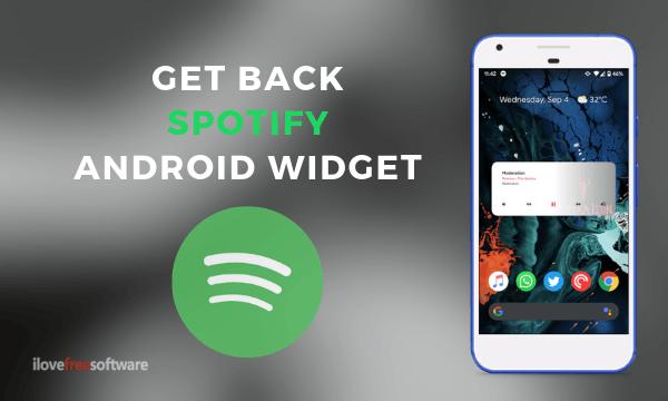 Spotify widget gone