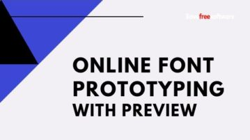 Online Font Prototyping Tool to Try Different Font Combinations with Preview