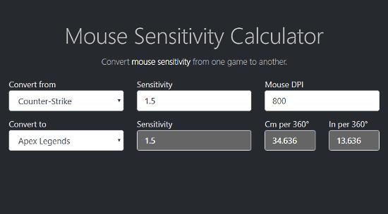 online mouse dpi sensitivity analyzer