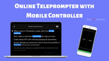 Free Online Teleprompter with Mobile Controller: ScriptSilde
