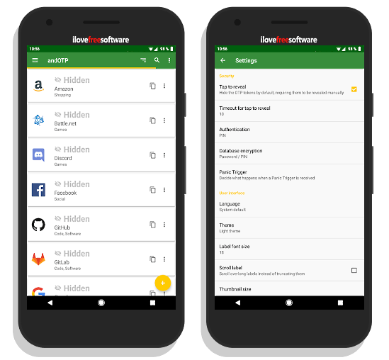 andOTP Android app