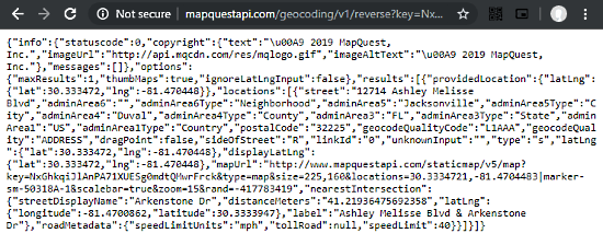 reverse geocode api mapquest