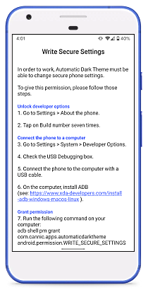 create a schedule for dark mode in Android 10