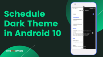 How to Schedule Dark Mode in Android 10?
