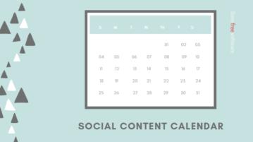 Online Social Content Calendar to Plan Social Media Posts