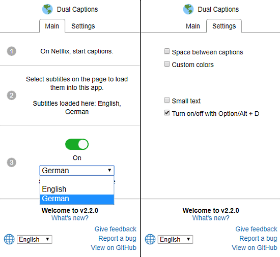 netflix 2 subtitles