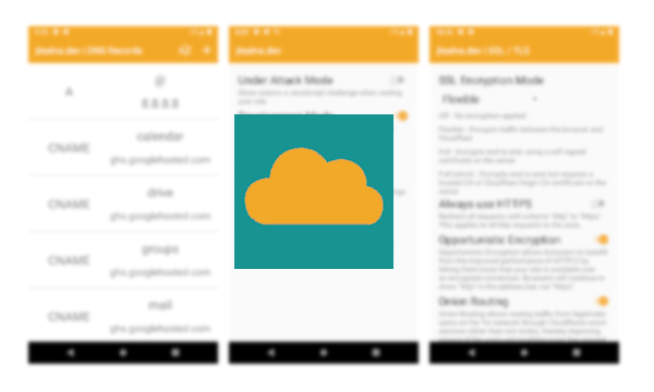 Cloudflare Android App to Change DNS Records for Cloudflare Domains