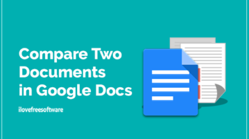 Compare Two Documents in Google Docs