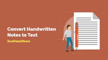 Convert Handwritten Notes to Text
