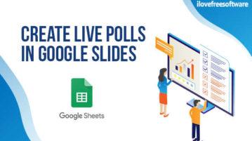 Create Live Polls in Google Slides