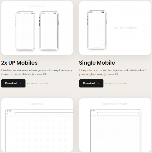 Download Printable Templates for Mockup Free for Commercial Use