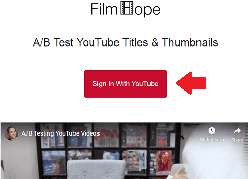 FilmHope Sign in via YouTube