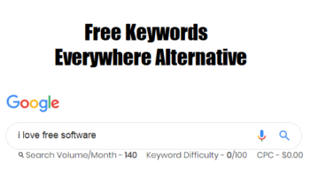 Free Keywords Everywhere alternative to see Volume, CPC in Google Search