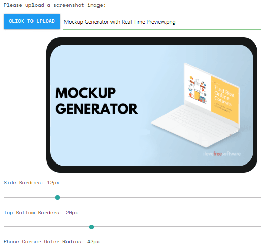 Free Mockup Generator with Real Time Preview