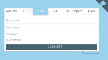 Free Self Hosted Web Client for S3, FTP, Git, Dropbox, B2, Google Drive