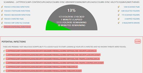 Infection Scanner WP malware scanner