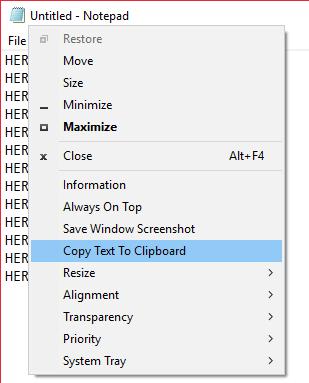 SmartSystemMenu title bar options