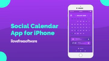 Social Calendar App for iPhone