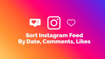 Sort Instagram Feed By Date, Comments, Likes