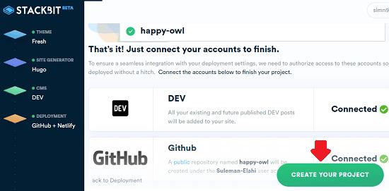 Stackbit launch website