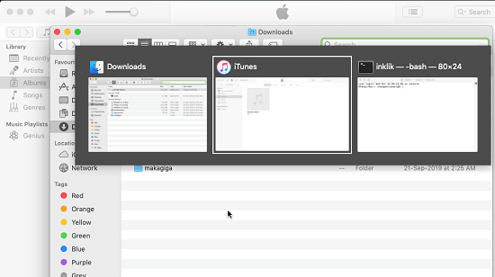 alt-tab-macos app in action