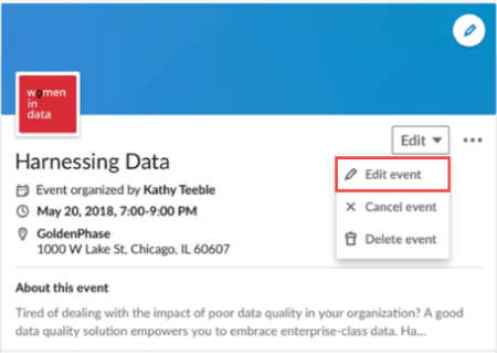 create and manage LinkedIn events