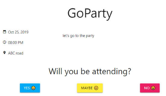 create event and share the link to invite guests