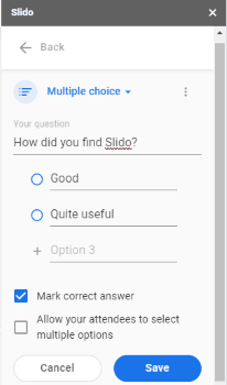 create multiple choice questions with options