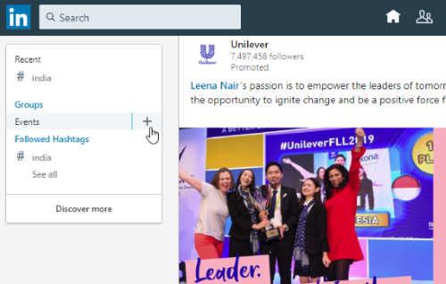create the event on LinkedIn