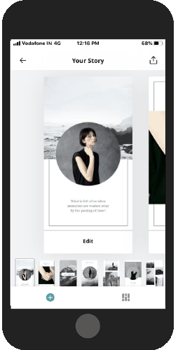 customize your stories using templates