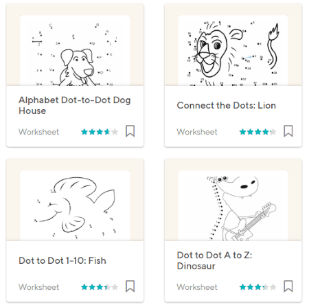 download dot to dot printables worksheets