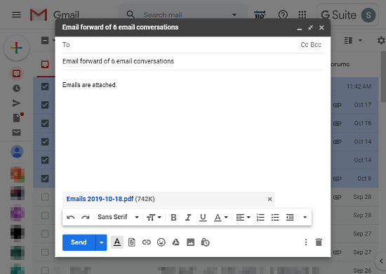forward emails as pdf free