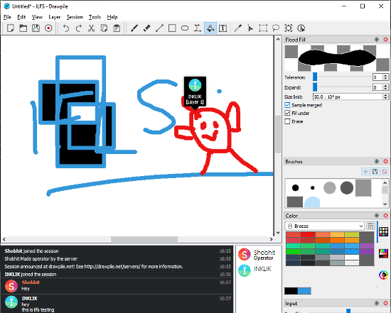 free collaborative drawing software with chat