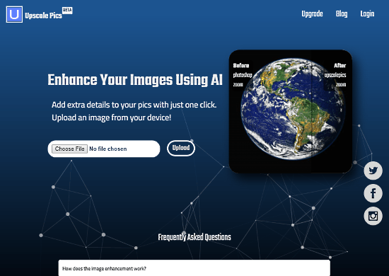 increase image resolution online using ai